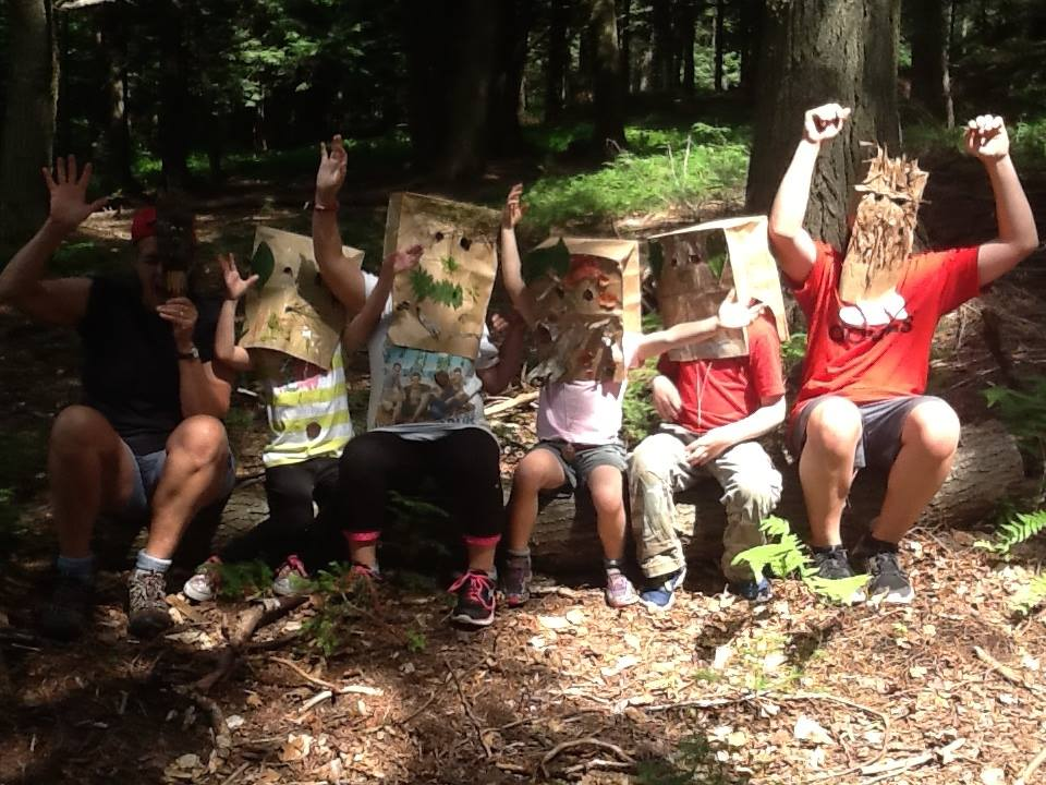 Mask making translates to Camouflage during our summer day camps